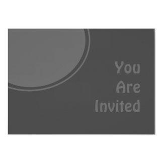 "Dark Charcoal Grey Modern Party Invite 4.5"" X 6.25"" Invitation Card"