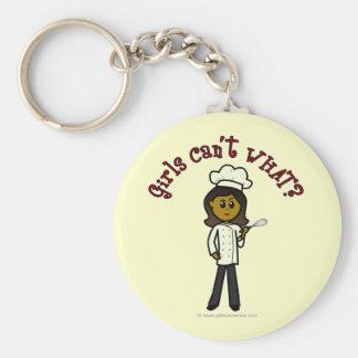 Dark Chef Girl Keychain