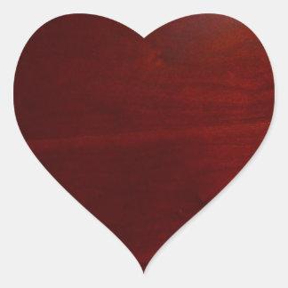 Dark cherrie wood look heart sticker