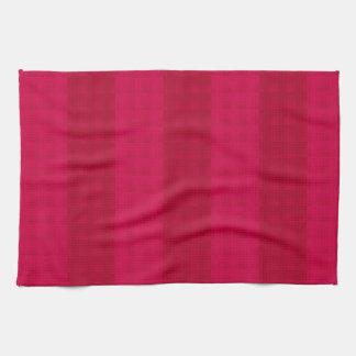 Dark Cherry Stripes Hand Towel