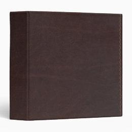 Dark Chestnut Brown Faux Leather Binder