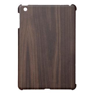 Dark Chocholate Faux Wood Pattern iPad Mini Case