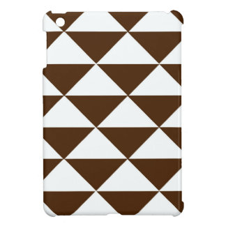 Dark Chocolate and White Triangles Case For The iPad Mini