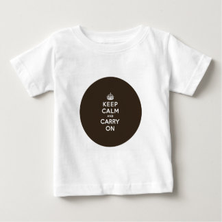 Dark Chocolate Brown Keep Calm and Carry On Infant T-shirt