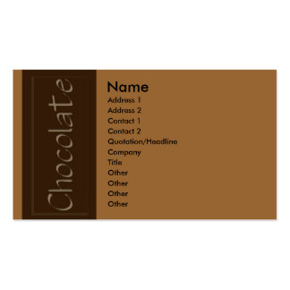 Dark Chocolate Business Card
