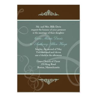 Dark Chocolate Classic  Wedding Invitation