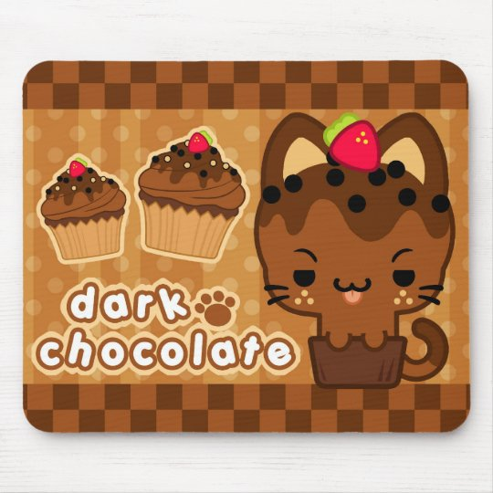 Dark Chocolate Cupcake Kitty Mousepad