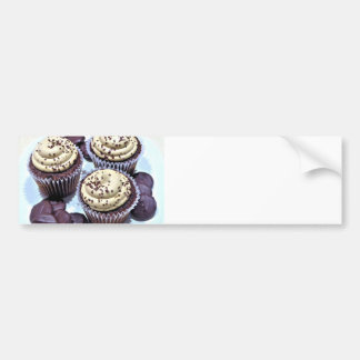Dark Chocolate Cupcakes - Sweet Bakery Print Bumper Sticker