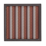Dark Chocolate Engraved Embroidered Look GIFTS Premium Trinket Box