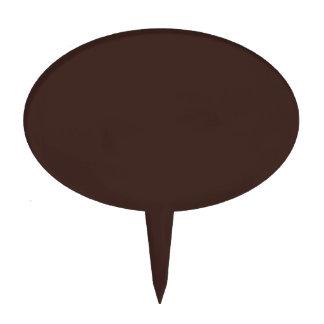 Dark chocolate hex code 3D241F Cake Topper