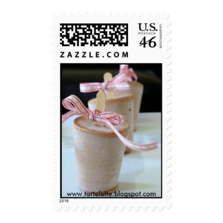 Dark chocolate ice cream pops stamp