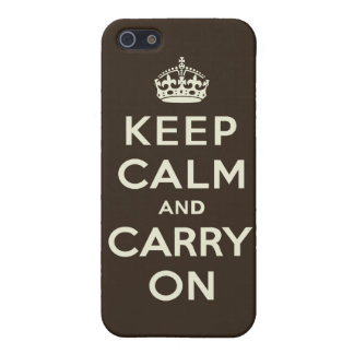 Dark Chocolate Keep Calm and Carry On Case For iPhone SE/5/5s