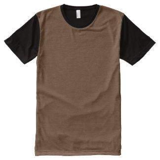 Dark Chocolate Solid Color All-Over Print T-shirt