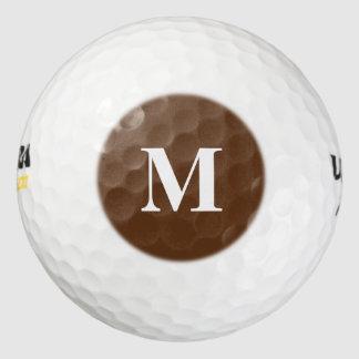 Dark Chocolate Solid Color Golf Balls