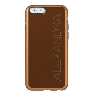 Dark Chocolate Solid Color Incipio Feather® Shine iPhone 6 Case