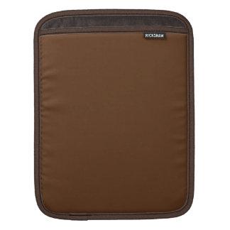 Dark Chocolate Solid Color iPad Sleeves