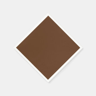 Dark Chocolate Solid Color Standard Cocktail Napkin