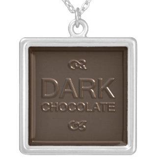 Dark Chocolate Square Necklace