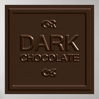 Dark Chocolate Square Poster