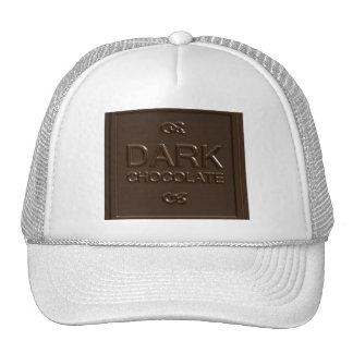 Dark Chocolate Square Trucker Hat
