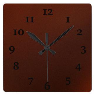 Dark Chocolate Square Wall Clock