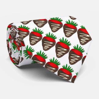 Dark Chocolate Strawberry Valentine's Day Tie
