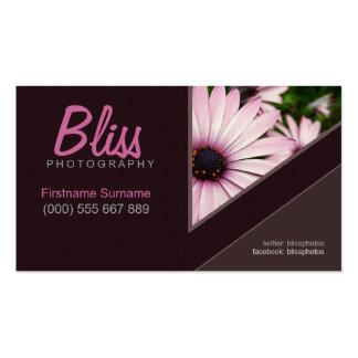 Dark Chocolate Stylish w/ Photo template Business Card