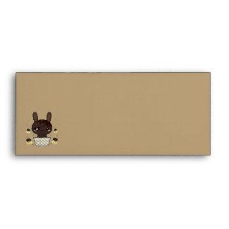 Dark Chocolate Truffle Bunny Envelope