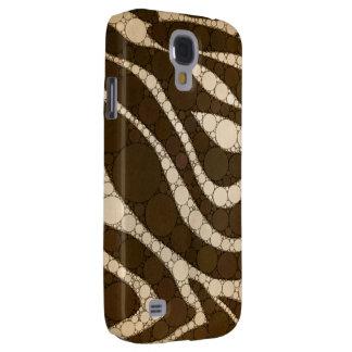 Dark Chocolate Zebra Abstract Galaxy S4 Cover