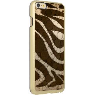 Dark Chocolate Zebra Abstract Incipio Feather® Shine iPhone 6 Plus Case