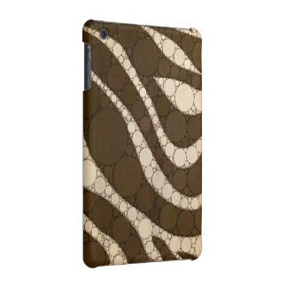Dark Chocolate Zebra Abstract iPad Mini Cover