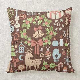 Dark Christmas background Pillows