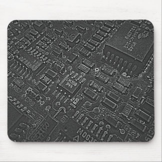 Dark Circuitry Mouse Pad