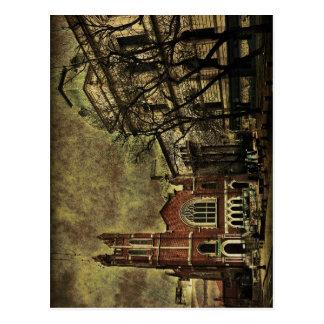 Dark Citiy Photo Collage Postcard
