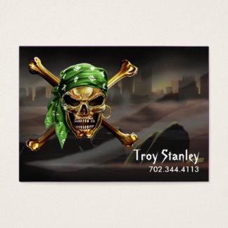 Dark City Pirate Business Card template