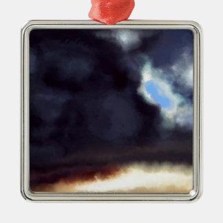 Dark Cloud Metal Ornament