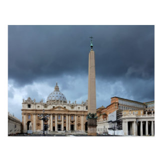 Dark Clouds above St. Peters Basilica, Vatican Postcard