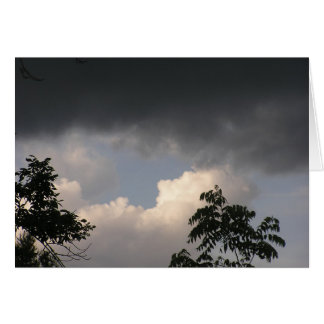 Dark Clouds Don't Stay Long Stationery Note Card