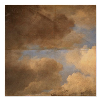 Dark Cloudy Skies Creased background Poster