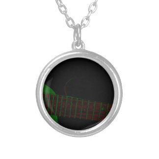 Dark Club Background Silver Plated Necklace