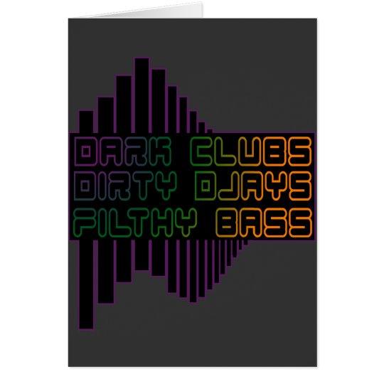 Dark Clubs Dirty Djays Filthy Bass CLUB DJ Card