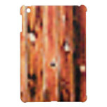 dark coarse wood panel cover for the iPad mini
