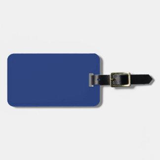 Dark Cobalt Blue Color Trend Blank Template Travel Bag Tag