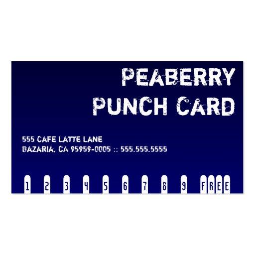 dark coffee drink punchcard business card zazzle. Black Bedroom Furniture Sets. Home Design Ideas