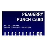 Dark Coffee Drink Punchcard Business Card Templates