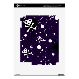 Dark Color Emo Pattern With Paint Decals For iPad 3