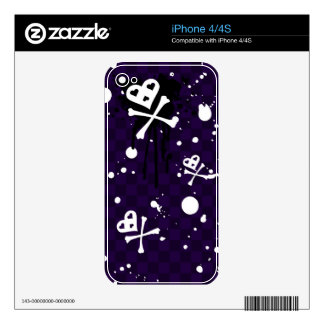 Dark Color Emo Pattern With Paint iPhone 4 Skin