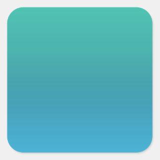 Dark Color Lable Label - Print in Light Shade Blue Square Sticker