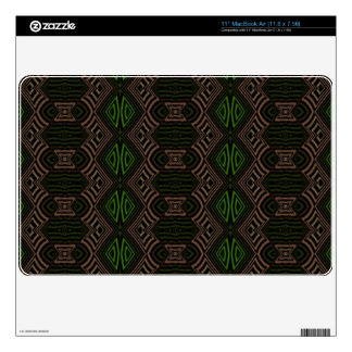 Dark colored abstract pattern decals for the MacBook