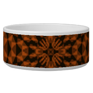 Dark colored abstract pattern dog food bowl